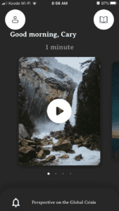A personnel experience with the One Minute Pause app by From John Eldredge