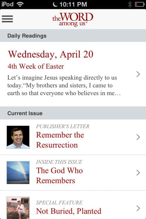Review of The Word Among Us App: Daily Readings by ...